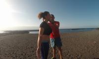 Hipopresivos en la playa